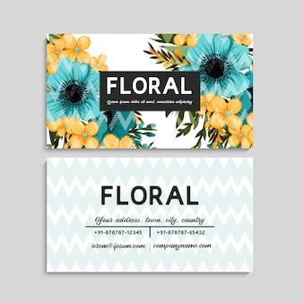 Tarjeta de visita linda del estampado de flores
