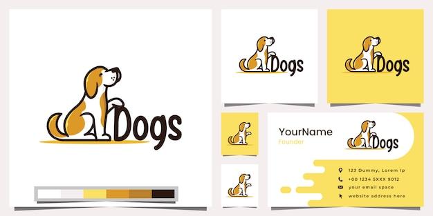 Tarjeta de visita del logotipo de los perros