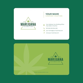 Tarjeta de visita de marihuana