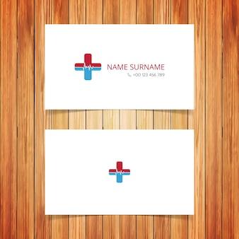 Tarjeta de visita medica simple blanca