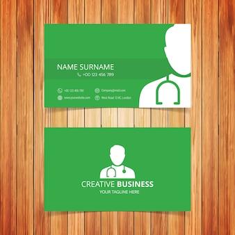 Tarjeta de visita medica verde