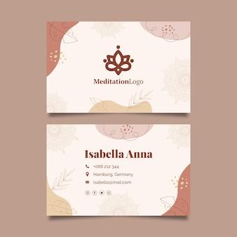 Tarjeta de visita de meditación y atención plena