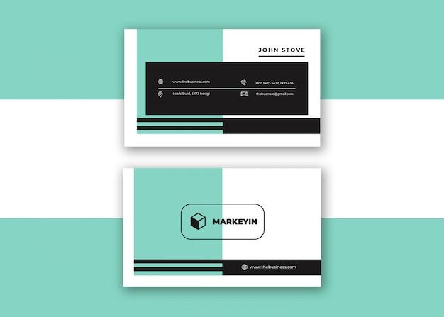 Tarjeta de visita minimalista colorida creativa corporativa limpia