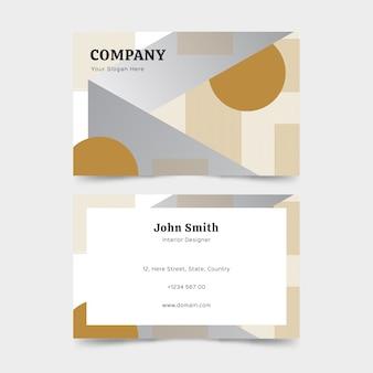 Tarjeta de visita minimalista con formas