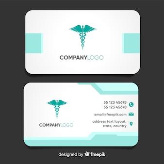 Tarjeta de visita moderna con concepto médico