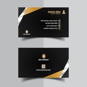 Tarjeta de visita moderna diseño elegante negro