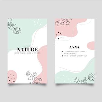 Tarjeta de visita de la naturaleza