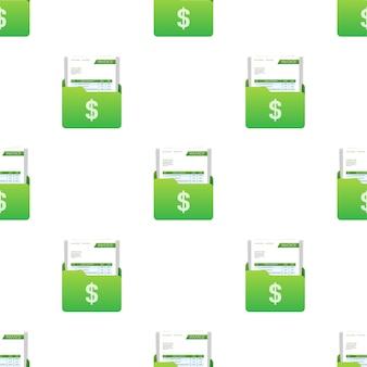 Tarjeta de visita con patrón de factura. concepto de servicio al cliente. pago en línea. pago de impuestos. plantilla de factura. ilustración de stock vectorial.