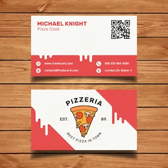 Tarjeta de visita de pizzeria