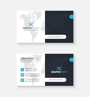 Tarjeta de visita simple con logotipo o icono para su negocio