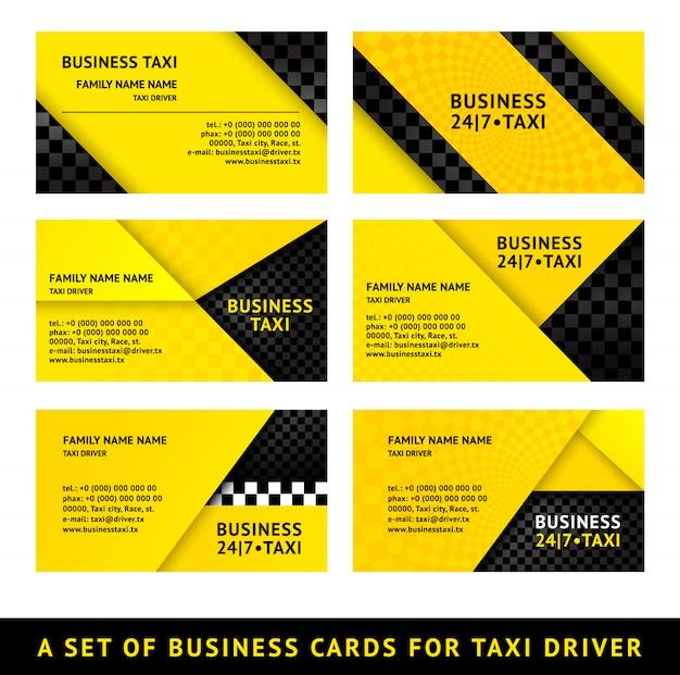 Tarjeta de visita taxi