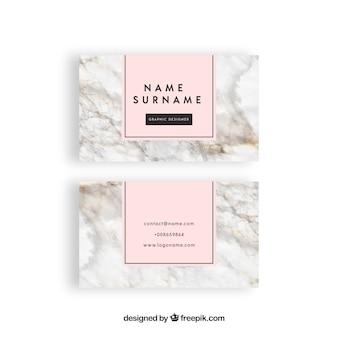 Tarjeta de visita con textura de mármol