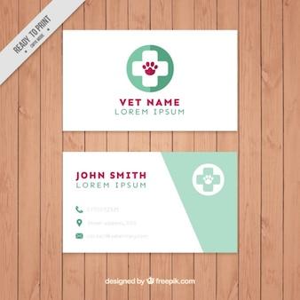 Tarjeta de visita de veterinario