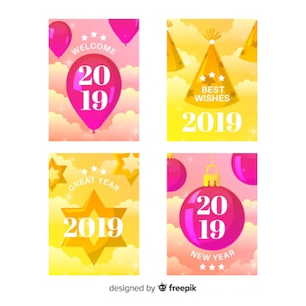 Tarjetas año nuevo 2019