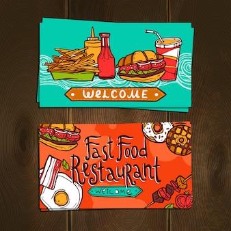 Tarjetas de comida rápida