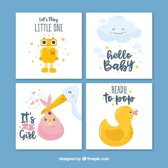 Tarjetas creativas de bienvenida al bebé