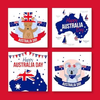 Tarjetas de felicitación para el día de australia