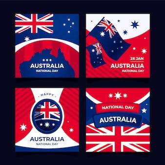 Tarjetas de felicitación del día de australia