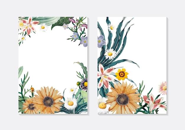 Tarjetas de felicitación florales
