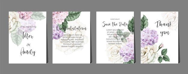 Tarjetas florales