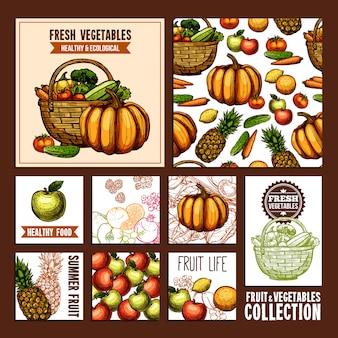 Tarjetas frutas y verduras