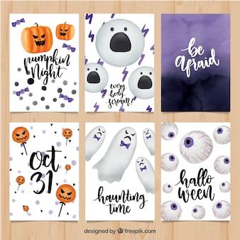 Tarjetas de halloween con estilo gracioso