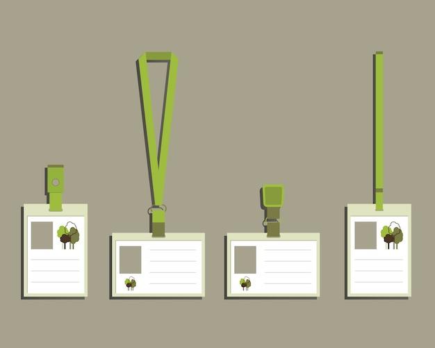 Tarjetas de identidad de productos ecológicos