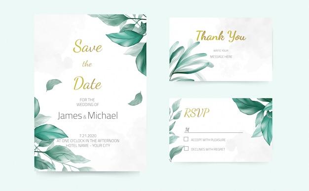 Tarjetas de invitación de boda floral rosa, color rojo, acuarela, diseño moderno. tarjeta de felicitación decorativa.