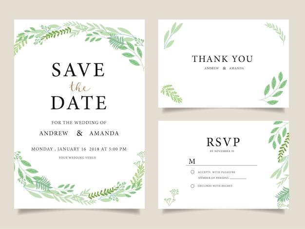 Tarjetas de la invitación de la boda, gracias cardar,