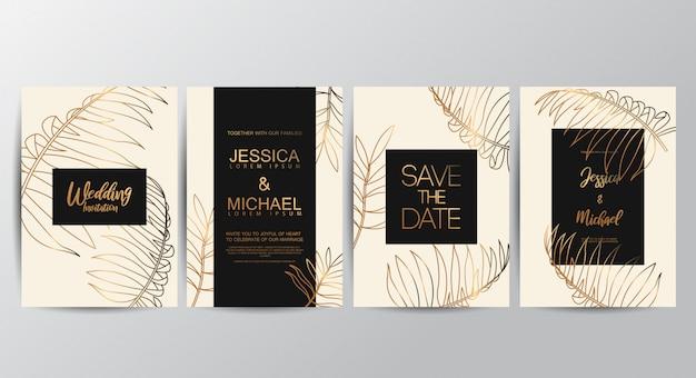 Tarjetas de invitación de boda de lujo premium