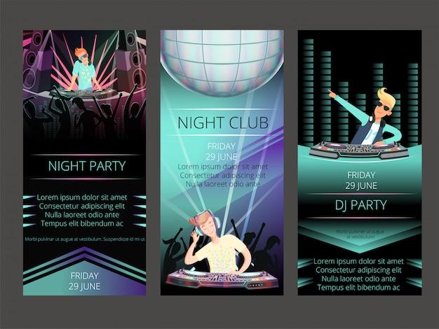Tarjetas de invitación de club nocturno.