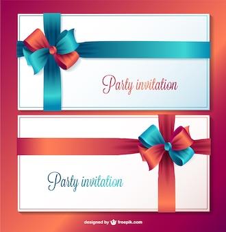 Tarjetas De Invitación Para Fiesta Vector Gratis