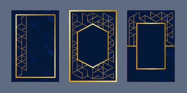 Tarjetas de invitación de fondo geométrico