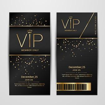 Tarjetas de invitación premium para fiestas vip