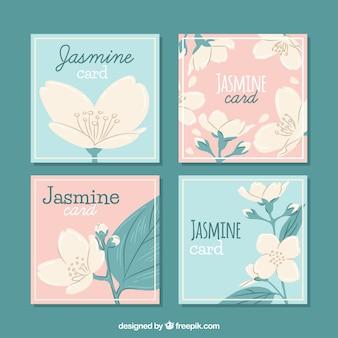 Tarjetas de jazmín con estilo adorable