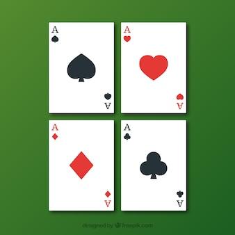 Tarjetas de juego de póquer