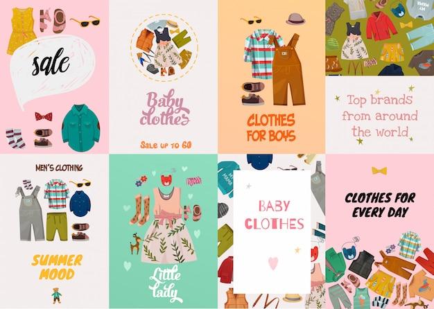 Tarjetas de moda infantil