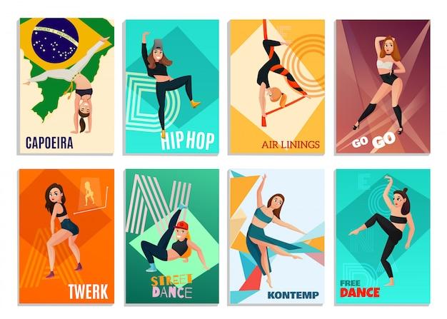 Tarjetas modern dances