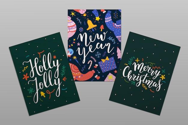 Tarjetas de navidad con letras