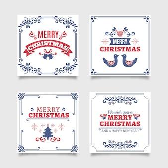 Tarjetas de navidad ornamentales