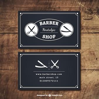 Tarjetas negras de barbería