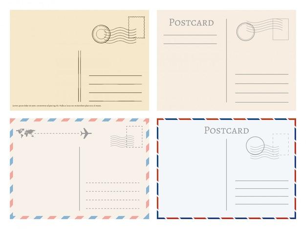 Tarjetas postales de papel vintage