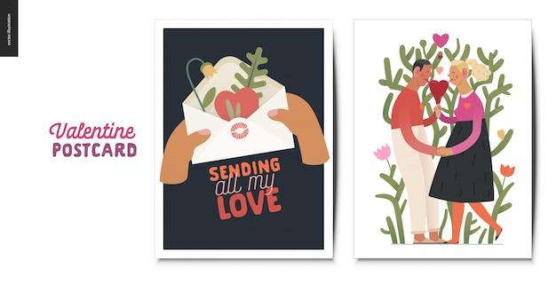 Tarjetas postales de san valentín
