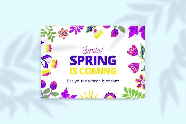 Tarjetas de primavera coloridas florales