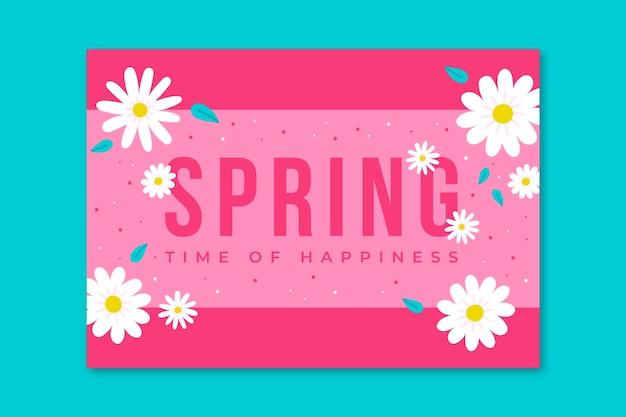 Tarjetas de primavera minimalistas florales