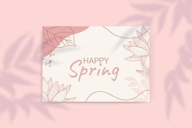 Tarjetas primaverales monocolor florales
