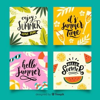 Tarjetas de verano