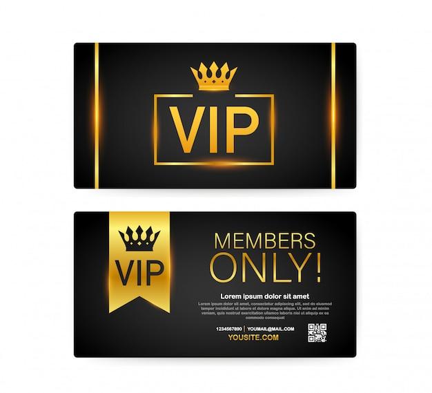 Tarjetas vip club, cinta de oro solo para miembros