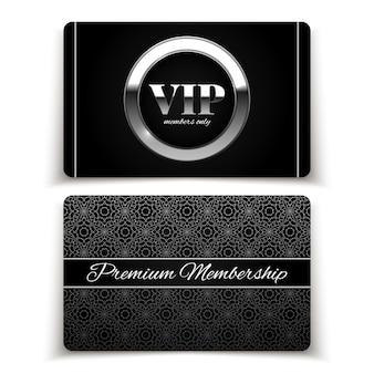 Tarjetas vip plateadas, membresía premium
