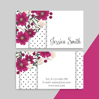 Tarjetas de visita de flores